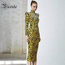 Vc frete grátis 2020 elegante leopardo vestidos presentes de natal sexy strapless split vestido de veludo celebridade festa bodycon vestido
