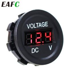 Car Motorcycle DC6V-30V LED Panel Digital Voltage Meter Display Voltmeter Waterproof Voltage Meter Tester Monitor Display