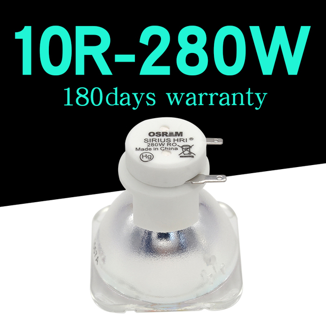 HIGH QUALITY 280W OSRAM LAMP FOR STAGE MOVING HEAD LIGHTS LAMP/BULB 280W MSD 10R PLATINUM METAL HALOGEN LAMPS 1PC/LOT
