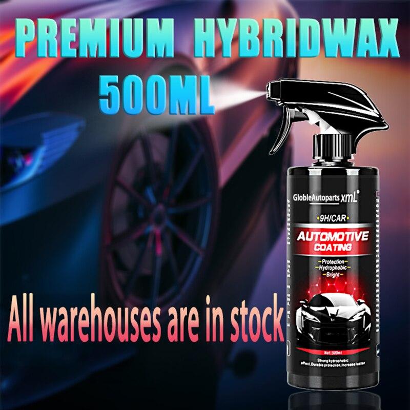 Автомобильное Водоотталкивающее керамическое покрытие, 500 мл, нанопокрытие из стекла, кристаллическое жидкое гидрофобное покрытие, Водоот...
