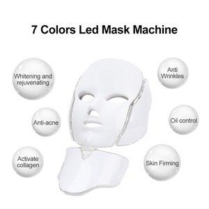 Image 3 - 7 colori Led maschera ringiovanimento della pelle fototerapia terapia della luce Anti invecchiamento maschera coreana bellezza macchina sbiancante collo strumento per la cura della pelle
