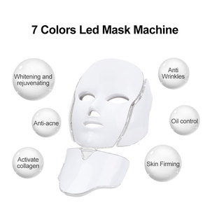 Image 3 - 7色ledマスク肌の若返りフォトンライトセラピーアンチエイジングフェイスマスク韓国美容機美白首スキンケアツール