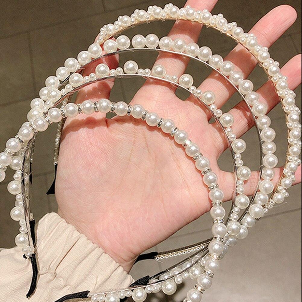 Elegant Full Pearls Hairbands Lady Headband Hair Hoops Ornament Headwear Women