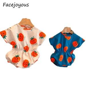 Słodkie słodkie body 2020 noworodków dziewczynek pomidorowy kombinezon z nadrukiem body z krótkim rękawem strój kąpielowy lato