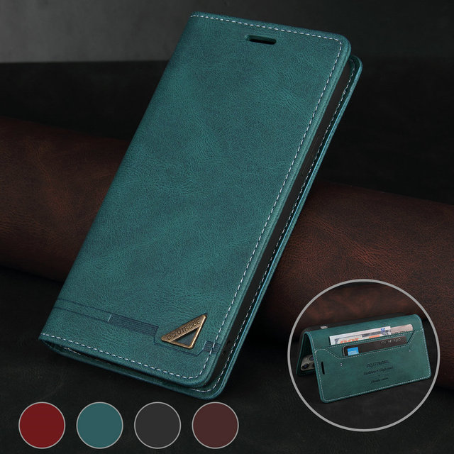 For Realme C11 C 15 Flip Case Magnet Texture Leather Shield RFID Blocking 360 Protect for OPPO Realme C15 Case Realmi C 11 Funda