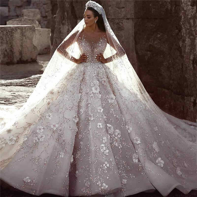 Gerçek fotoğraflar büyük balo gelinlik 2020 dantel gelinlik Mariage gelinlikler Vestido de noiva Vintage