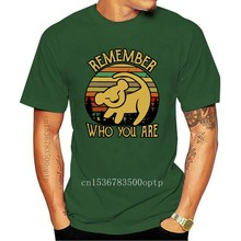 Simba Remember Who You Are Vintage Men'S Black Cotton T Shirt All Size