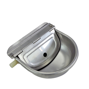 Image 2 - Farming Pet Sheep Dog Horse Automatic Float Cattle Cow Water Bowl Drink With Drain Hole Goat Trough Supplies Stainless Steel