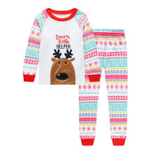 2018 New Fashion Christmas Sets Hot Sale Kids Infant Baby Boy Girl Cartoon Deer Christmas Pajama Set Xmas Outfits Clothes(China)