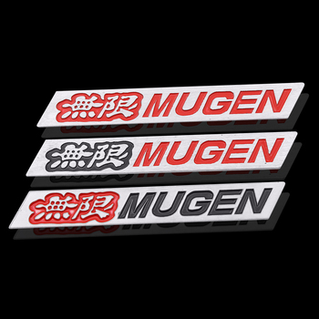 3D car styling metal Sticker Fender Emblem unlimited Badge Decal Car decoration For Honda Mugen Power Civic Accord CRV Hrv Jazz metal 3d car feder trunk sticker vtec logo badge decal chrome accessories for honda civic accord odyssey spirior crv car styling