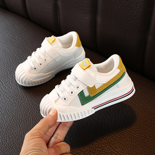 2021 Spring Kids Shoes Boy Sneakers Mesh Breathable Girls Shoes Leather Plush Warm Winter Shoes For Children Running Casual Shoe