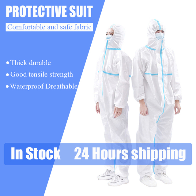 Protective Clothing Waterproof ppe suit Reusable Prevents dust Invasion Plastic Insulation Suit Washable and Reusable