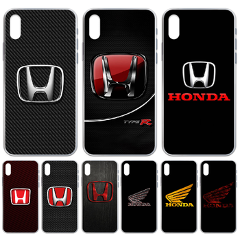 Honda car logo luxury Phone Case cover For iphone 4 4S 5 5C 5S 6 6S PLUS 7 8 X XR XS 11 PRO SE 2020 MAX transparent back luxury image
