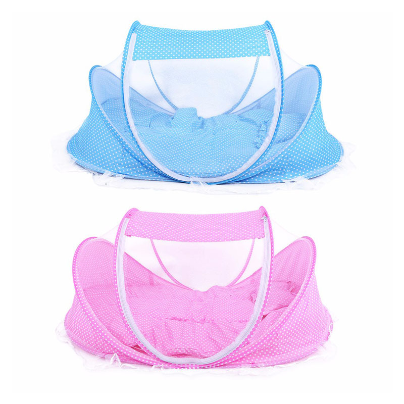 3pcs/lot 0-36 Months Baby Bed Portable Foldable  Crib With Netting Newborn Sleep  Travel  Mosquito Net  Ding