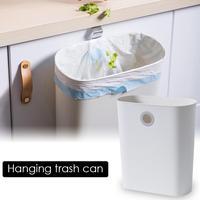 접이식 쓰레기통 주방 캐비닛 도어 매달려 휴지통 휴지통 수 벽 마운트 trashcan 욕실 화장실 쓰레기 보관