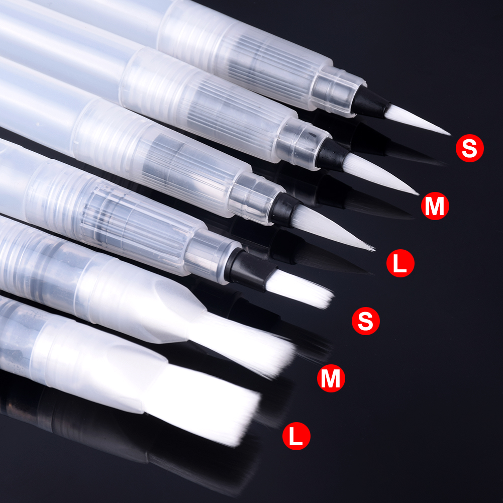 1PC/3PC/6PC Portable Paint Brush Water Color Brush Pencil Soft Watercolor Brush Pen For Beginner Painting Drawing Art Supplies
