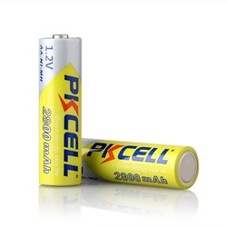 PKCELL Ni-MH AA Batteries 2600mAh-2800mAh 1.2V NiMh Rechargeable Battery 2A Batteria Cell For Flashlights Camera Toys