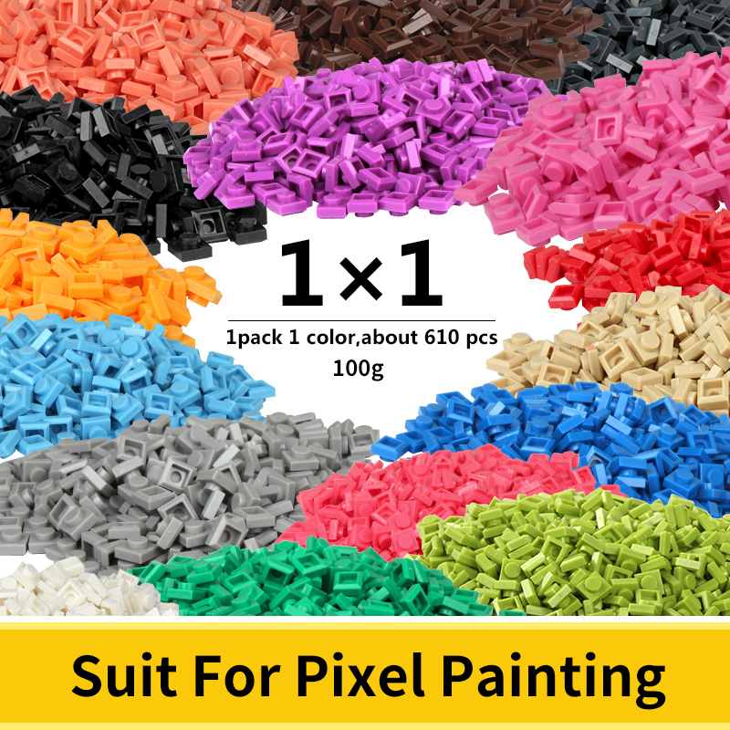 1x1 Pixel Bricks Creative Assembly Classic Building Blocks For Mosaic Art Designs Pixel Painting Bricks Toys For Children Adults