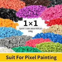 1x1 pixel tijolos compatível base legoed clássico blocos de construção para mosaico arte projetos pixel pintura brinquedos para crianças adultos
