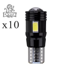10X T10 5630 W5W 6-smd Car LED reading light decoding lens black aluminum non-extremely high temperature resistant ceiling