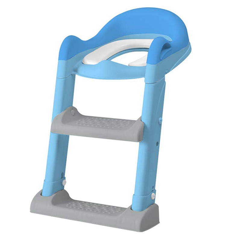 FBIL-Potty Training Seat With Adjustable Ladder, Kids Ladder Toilet Seat With Non-Slip Step Stool Ladder, Potty Training Ladder,