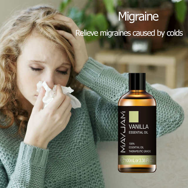 10ml 30ml 100ml Vanilla Essential Oil Diffuser Aroma Oil with Dropper Pure Natural Essential Oils for Humidifier Relief Migraine 3