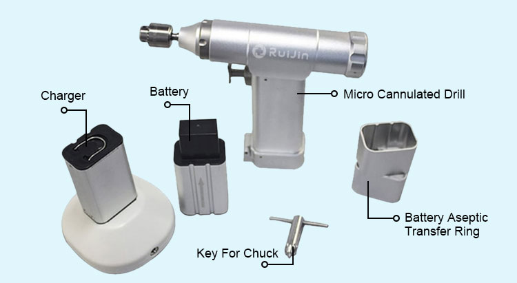Reusable Equipment ND-5001 Surgical Power Electric Orthopedic Small Bone Drill For Veterinary Use