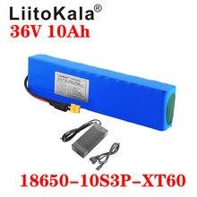 Liitokala bateria de íon de lítio de 36v, 10ah, 600w, 10s3p, 15a, bms para xiaomi mijia m365, pro ebike, bicicleta scoot tomada xt60 t