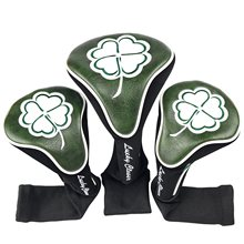 Golf Club #1 #3 #5 Wood Headcovers Driver / Fairway Rescue Woods / Hybrid PU Leather Head Covers Set Protector(China)