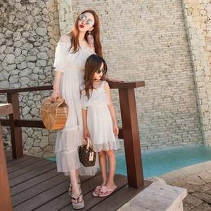 Кружевное Свадебное платье для мамы и дочки, одежда для выпускного вечера, одежда для мамы и дочки, одежда для всей семьи, одежда для мамы и р...