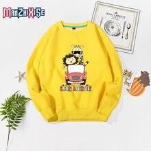 New Arrival Cartoon Lion Giraffe Print Hoodies Clothes Kids Spring Long Sleeve Sweatshirts Boy Fashion Clothing Costume