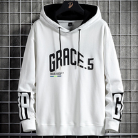 Anbican 2021 New Black White Oversized Hoodie Men Streetwear Hip Hop Pullover Sweatshirts Male Fashion Letter Printed Tops 8XL