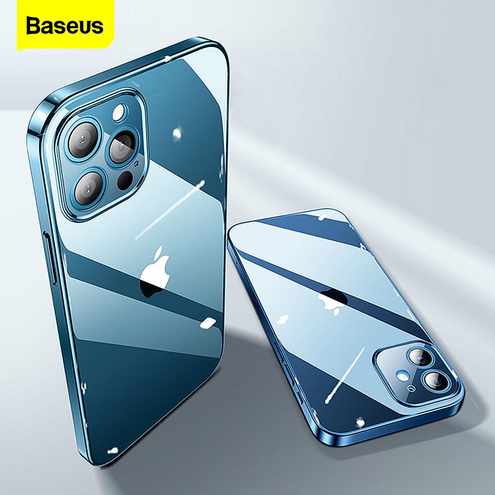 Baseus temizle telefon kılıfı için iPhone 12 11 Pro XS Max Xr X kılıf Coque Ultra ince yumuşak TPU silikon arka kapak iPhone 12Pro Max