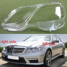 2009 년 2010 2011 2012 메르세데스 벤츠 4 도어 E 클래스 W212 E200 E260 E300 E350 헤드 라이트 그늘 전조등 쉘 램프 쉐이드 렌즈