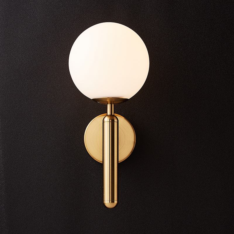 H16ed7257d205429997f52dd434523c1ag - Decorative Led Wall Lights Fixtures Nordic Glass Ball Wandlamp Up Down Bathroom Mirror light Gold Black Modern Round Wall Lamp