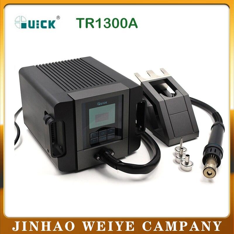 QUICK TR1300A TR1100 1300 Вт паяльный фен 220 В/110 В интеллектуальная наладочная станция горячего воздуха для ремонта печатных плат и телефонов