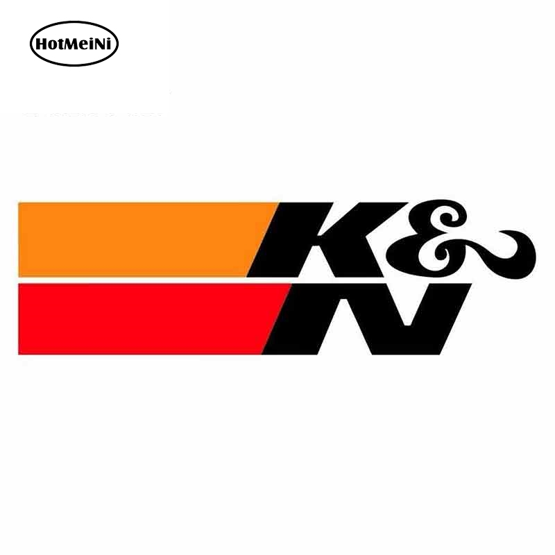 HotMeiNi  13cm X 3.9cm For K & N Suitable For VAN Car Stickers And Decals Occlusion Scratch Graffiti Sticker VAN Decoration