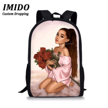 LALIN Ariana Grande Students Womens Backpack Bag Teenagers Backpack Travel Package Shopping Shoulder Bag Women Mochila Mujer