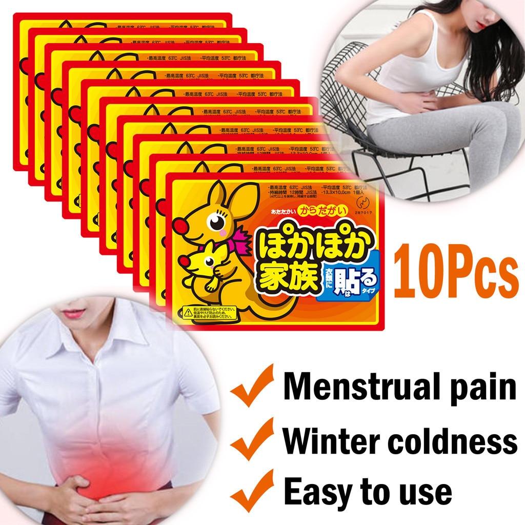10pcs Body Warmer Stick Lasting Heat Patch Keep Hand Leg Foot Warm Paste Pads Hand Warmers Stickers Heated Pad