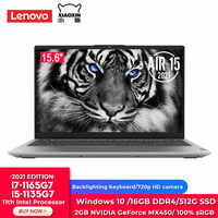 Original Lenovo Yi Air15 portátil 11th Gen Intel i7-1165G7 /i5-1135G7 16GB RAM 512GB SSD GeForce MX450 15,6