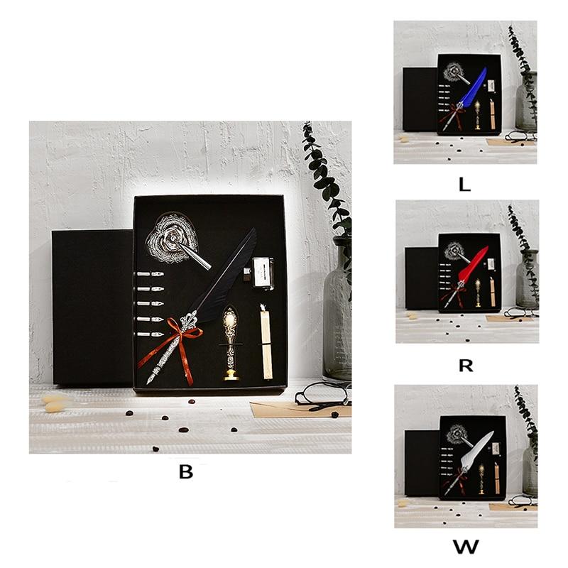 Love Retro Feather Pen Set Envelope Document Writing Special Tool Retro Feather Pen Set  Retro Feather Pen SetLK