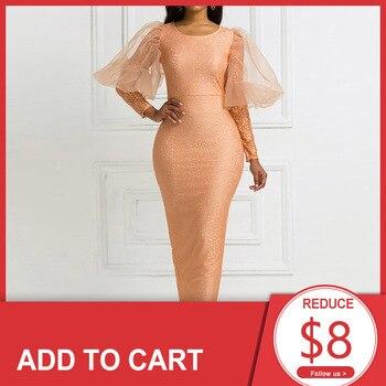 Elegant Khaki Prom Dress Scoop Neck Sheath Ankle Length Women Long Sleeves Evening Party Formal Gowns Dresses
