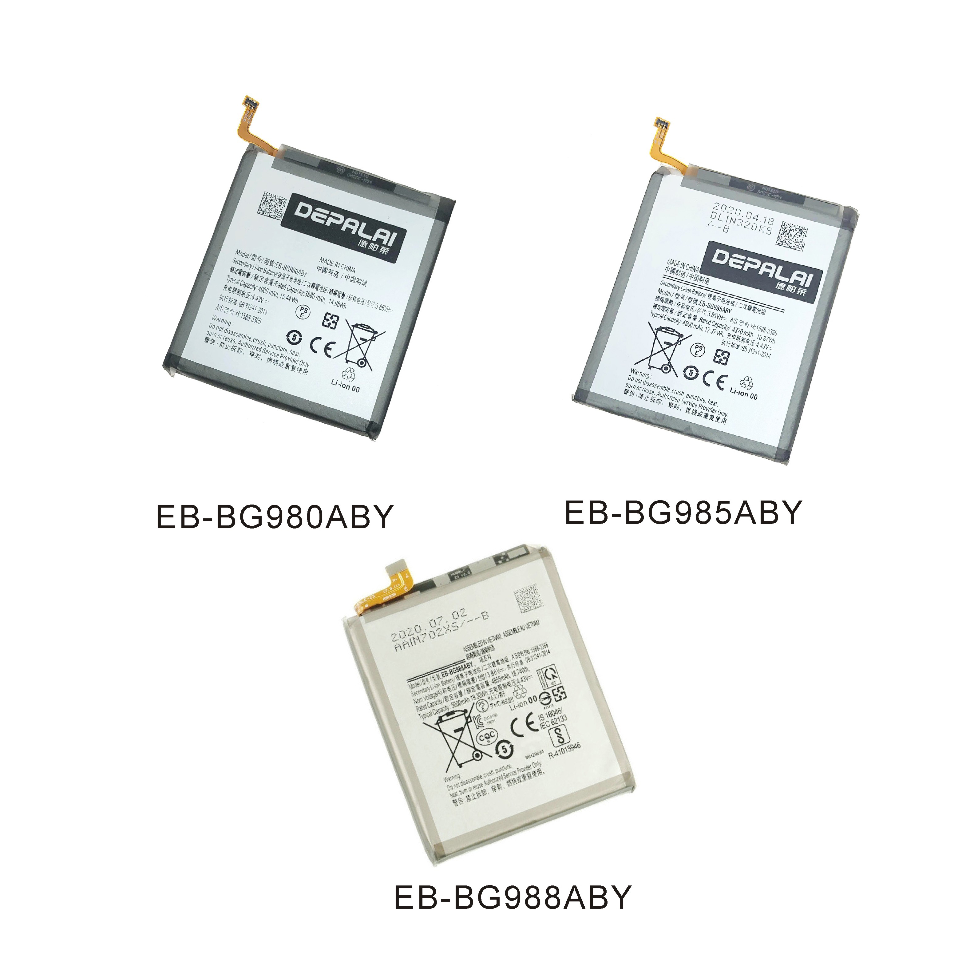 Battery EB-BG980ABY Samsung Galaxy for S20/S20-plus/S20/Ultra-eb-bg988aby High-Capacity