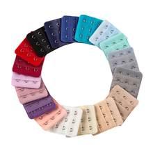 10 pçs extensores sutiã cinta extensão 3 ganchos 2 linhas mulheres intimate alongado sutiã gancho extensores (cor aleatória)