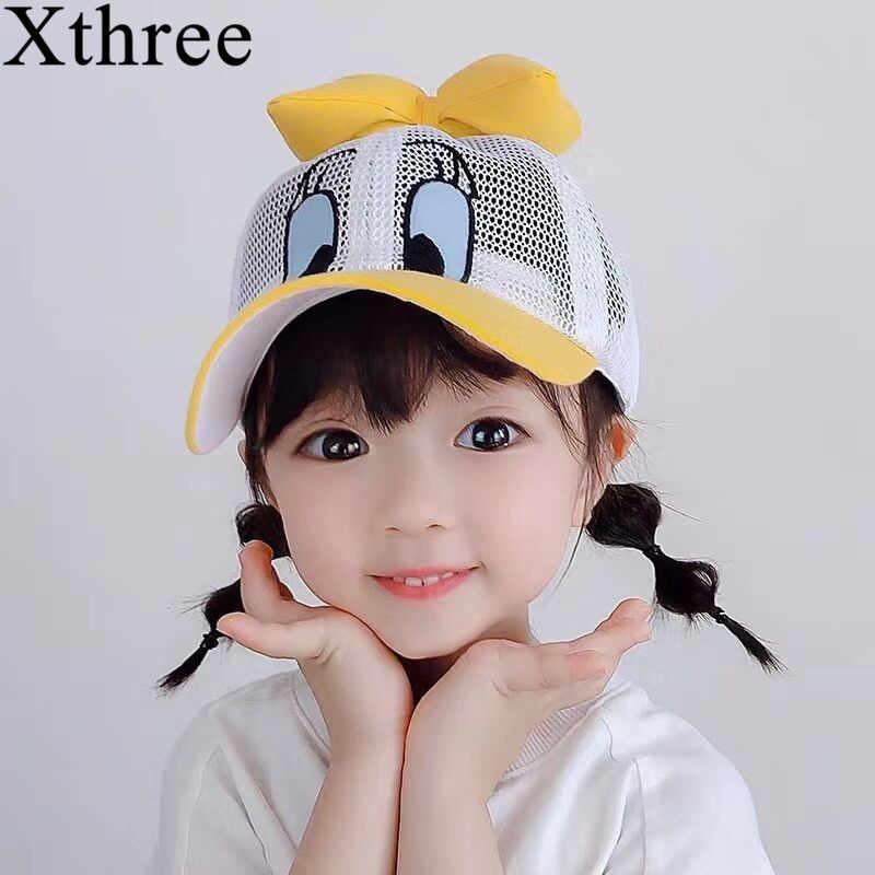 Xthree dziecięca czapka z daszkiem dla dzieci kapelusze letnie czapka typu snapback dla dziewczynki czapka z daszkiem dla dzieci gorras casual cute duck casquette