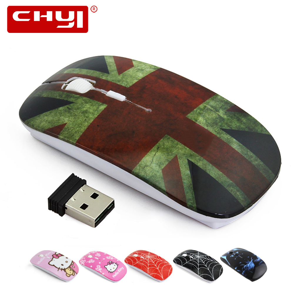Wireless Mouse Ultra-thin British Flag Cartoon Mouse 1600 dpi Cheap Optical Gaming Computer Mice For PC Laptop Drop Shipping image