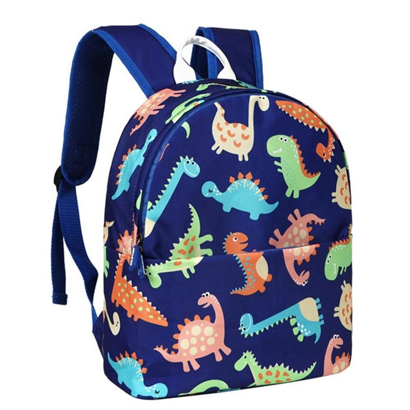 1 PC Dinosaur Printed Backpack Kindergarten Children School Bag Cartoon Printing Primary Backpacks Book Capacity Bags Satchel