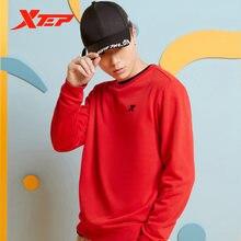 Мужской свитер xtep с длинным рукавом и круглым вырезом осень