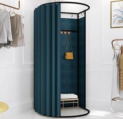 Rideau de présentation pour cabine d'essayage temporaire | Rideau simple pliable et portable, pour magasin de vêtements et vestiaire