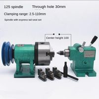 Lathe spindle assembly with flange connection plate transition plate 80/125/160 spindle three jaw four jaw chuck free shipping